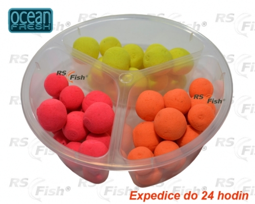 Boilies Ocean Fresh Fluoro Pop – Up Midi Halibut