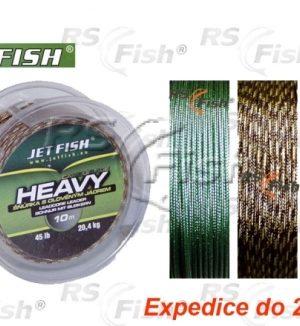Jet Fish® Šňůra návazcová s olověným jádrem Jet Fish Heavy kamufláž - hnědo žlutá
