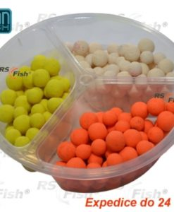 Boilies Ocean Fresh Fluoro Pop - Up Mini Jahoda & Med