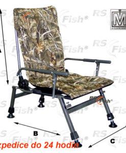 M Elektrostatyk® Křeslo rybářské F5R - barva maskáčová
