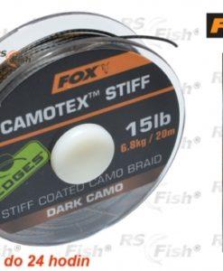 Fox® Šňůra FOX Camotex Stiff - Dark Camo 11