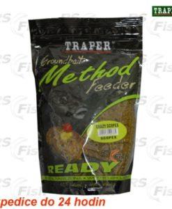 Traper® Vlhčená krmítková a vnadící směs Traper Method Feeder Scopex - 750 g