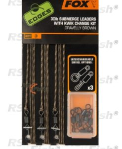 Fox® FOX Submerge Leaders With Kwik Change Kit - Gravelly Brown CAC581