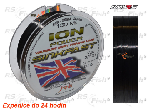 Awa-S® Vlasec Awa-S ION Power Match Sinkfast 150 m 0