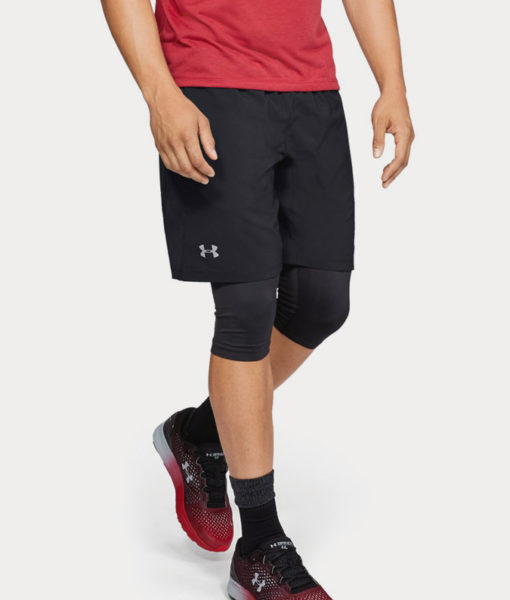 Kraťasy Under Armour Launch Sw 2-In-1 Long Short Černá