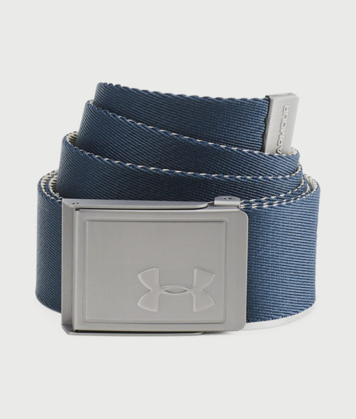 Pásek Under Armour Men's Webbing 2.0 Belt Modrá