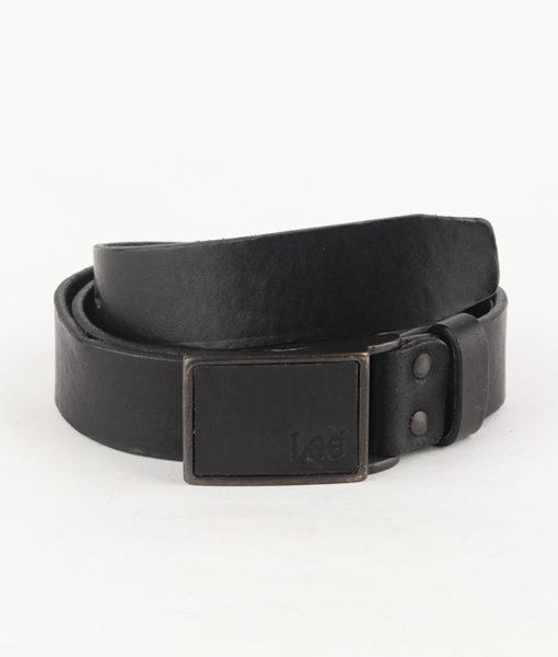 Pásek Lee Square Buckle Belt Black Černá