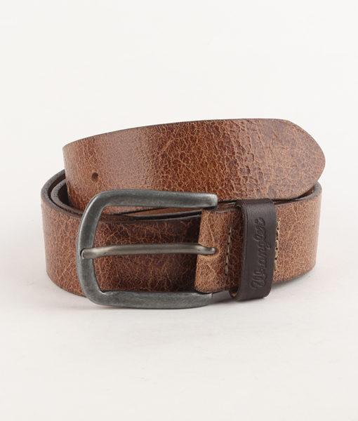Pásek Wrangler Sioux Belt Brown Hnědá