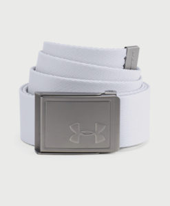 Pásek Under Armour Men's Webbing 2.0 Belt Bílá