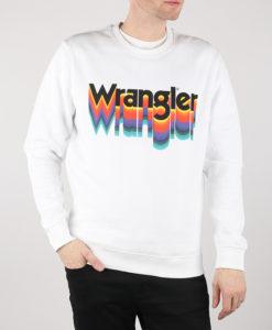 Mikina Wrangler Crew Sweat White Bílá