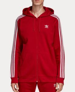 Mikina adidas Originals 3-Stripes Fz Červená