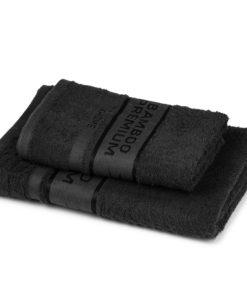 4Home Sada Bamboo Premium osuška a ručník černá
