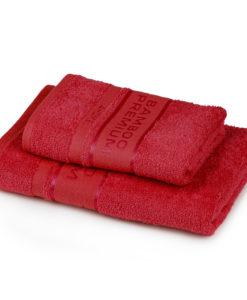 4Home Sada Bamboo Premium osuška a ručník červená