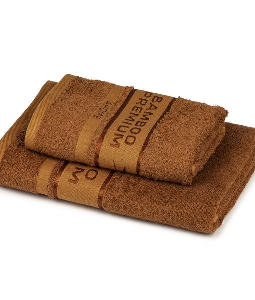 4Home Sada Bamboo Premium osuška a ručník hnědá