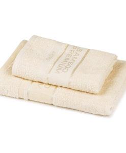 4Home Sada Bamboo Premium osuška a ručník krémová