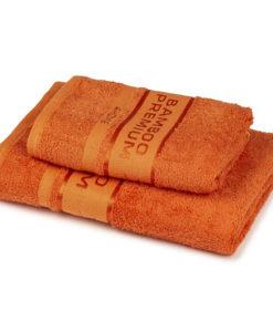4Home Sada Bamboo Premium osuška a ručník oranžová