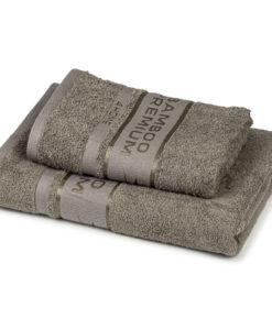 4Home Sada Bamboo Premium osuška a ručník šedá