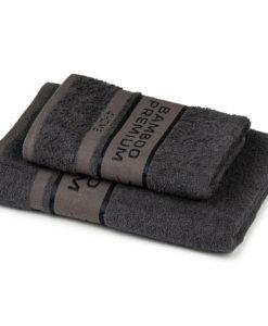 4Home Sada Bamboo Premium osuška a ručník tmavě šedá