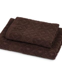 Trade Concept Sada Rio ručník a osuška tmavě hnědá