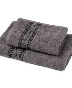 Jahu Sada Strook ručník a osuška šedá