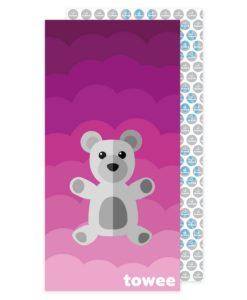 Towee Rychleschnoucí osuška Teddy Bear růžová