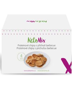 KetoMix Proteinové chipsy s příchutí barbecue (4 porce)