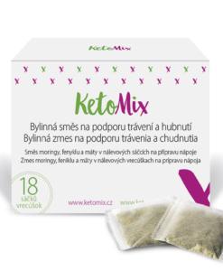 KetoMix Bylinná směs s moringou na podporu trávení a hubnutí (18 sáčků)