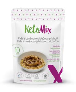 KetoMix Proteinová kaše s banánovo-jablečnou příchutí (10 porcí) 280 g
