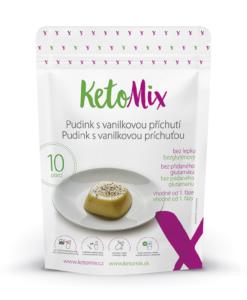 KetoMix Proteinový pudink s vanilkovou příchutí (10 porcí) 300 g