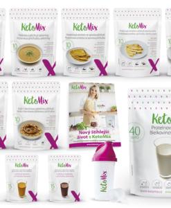 KetoMix Ketonová dieta na 3 týdny (110 porcí) 3840g 1. příchuť koktejlu: banán