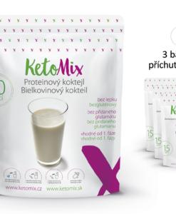 KetoMix Proteinový koktejl (40 porcí) 1200g 1. příchuť koktejlu: banán